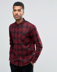 Another Influence Checked Flannel Shirt Red