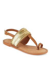 Naughty Monkey Petra Leather Sandals Tan