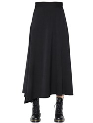 Y's Asymmetric Flared Twill Long Skirt