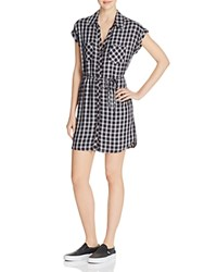 Soft Joie Safia Plaid Shirt Dress Caviar