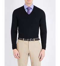 Ralph Lauren Purple Label Fine Knit Cashmere Jumper Black