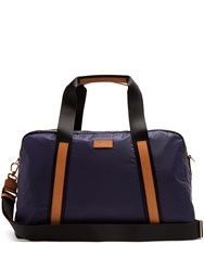 Paul Smith Tri Colour Leather Trimmed Nylon Holdall Navy Multi