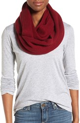 Halogenr Women's Halogen Knit Cashmere Infinity Scarf Red Cordovan