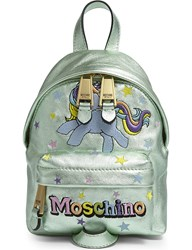 Moschino My Little Pony Leather Backpack Green