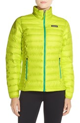 Women's Patagonia Packable Down Sweater Jacket Chartreuse Aqua Stone