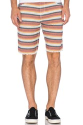 Joe's Jeans Cut Off Short Marrakech Stripe Rust