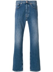 Tom Wood Straight Leg Jeans Cotton Polyester Spandex Elastane Blue