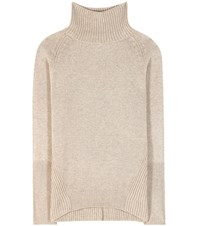 Etro Wool And Cashmere Blend Turtleneck Sweater Beige