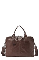 Men's Fossil 'Wyatt' Leather Work Bag