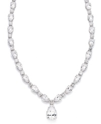 Eliot Danori Necklace Silver Tone Cubic Zirconia And Crystal Pear Drop Necklace 41 5 8 Ct. T.W.