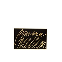 Lulu Guinness Women's Olivia 'One In A Million' Clutch Black Gold