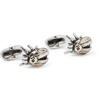 Paul Smith Bolt Beetle Gold Tone And Silver Tone Cufflinks Gold