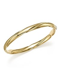 Bloomingdale's 14K Yellow Gold Wide Polished Twist Bracelet 100 Exclusive