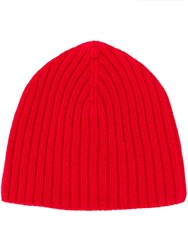 Pringle Of Scotland Logo Beanie Red
