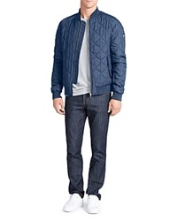 William Rast Bedford Quilted Bomber Jacket Blue