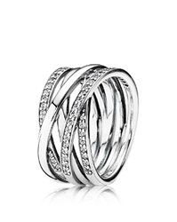 Pandora Design Pandora Ring Sterling Silver And Cubic Zirconia Entwined