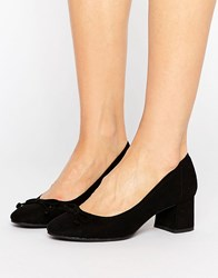 New Look Suedette Heeled Ballet Pump Black