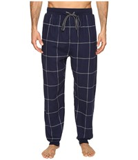Kenneth Cole Reaction Banded Flannel Pants Navy Men's Pajama