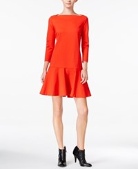 Maison Jules Flared Drop Waist Dress Only At Macy's Loving Red