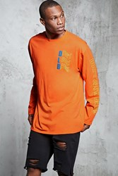 Forever 21 Dont Look Back Long Sleeve Tee Orange