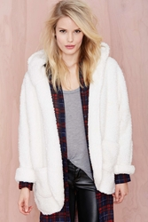 Nasty Gal Always On Shearling Jacket