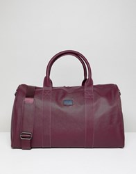 Peter Werth Etched Holdall In Burgundy Red