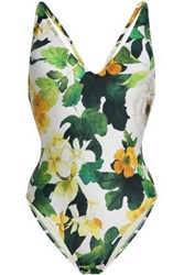 Lenny Niemeyer Woman Floral Print Swimsuit Off White Off White