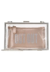 New Look Out Out Slogan Perspex Box Set Clutch Pink