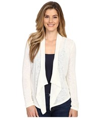 Calvin Klein Jeans Linen Look Mixed Media Cardigan Vanilla Women's Sweater Bone