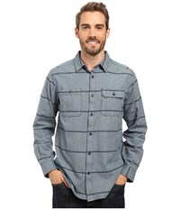 Mountain Hardwear Frequenter Stripe Long Sleeve Shirt Navy Men's Long Sleeve Button Up Blue
