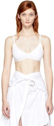 Helmut Lang White Seamless Triangle Bra