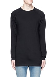 Topman Raglan Sleeve Long Sleeve T Shirt Black