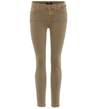 7 For All Mankind The Skinny Crop Jeans Green