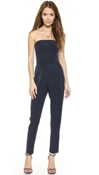 Black Halo Iris Strapless Jumpsuit Navy