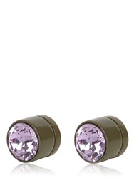 Givenchy Round Crystal Magnetic Earrings