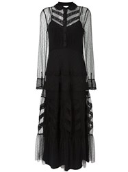 Red Valentino Embroidered Tulle Dress Black