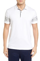 Bobby Jones Men's Liberty Tech Golf Polo White