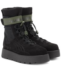 Fenty Puma By Rihanna Scuba Suede Ankle Boots Black