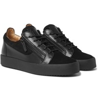 Giuseppe Zanotti Leather And Suede Sneakers Black