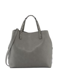 French Connection Celia Faux Leather Tote Bag Gray
