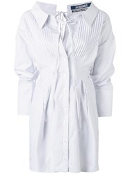 Jacquemus Striped Shirt Dress White