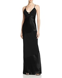 Abs By Allen Schwartz Shiny And Matte Satin Slip Gown Black