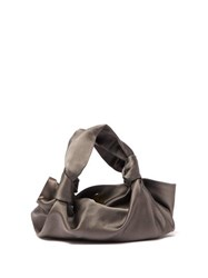The Row Ascot Satin Clutch Bag Grey