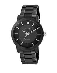 Kenneth Cole Mens Stainless Steel And Diamond Watch Black