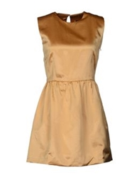 Mary Jane Short Dresses Ocher