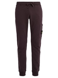Stone Island One Pocket Track Pant Cotton Trousers Burgundy