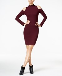 Bar Iii Cold Shoulder Bodycon Dress Only At Macy's Merlot