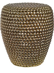 Pols Potten Dot Brass Stool Gold