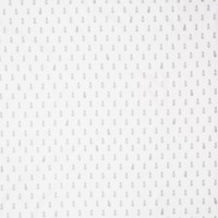 Motif Personnel Aime Comme Marie Pineapple Print Fabric White Silver