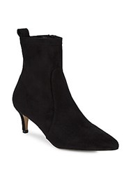 Saks Fifth Avenue Point Toe Suede Booties Black